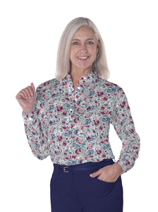 Petite Long Sleeve Print Polo Shirts <br> Fancy This 21A - Leonlevin