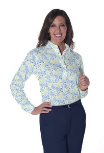 Petite Long Sleeve Print Polo</br> Sweet Serenade 22D - Leonlevin