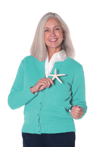 America's Favorite Cardigan Sea Green