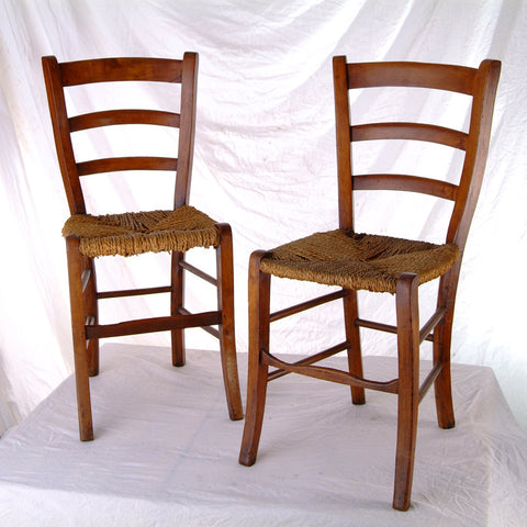 19th Century Ladder-Back Campagnole Chairs - IT-2