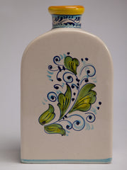 Italian Hand Pained Ceramic Bottle