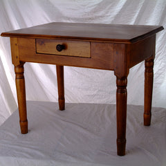 19th Century French Country Walnut Side Table - FR-1