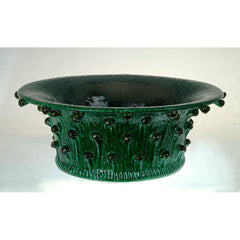 Italian Green Dolfi Ceramic Bowl - IT-5