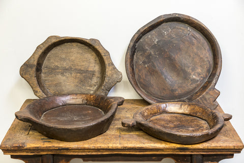 Hand Carved Indian Chapati Bowls