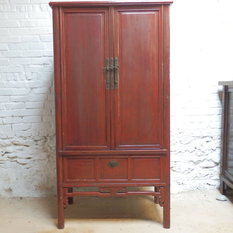 Chinese Red Lacquer Wardrobe CH-6