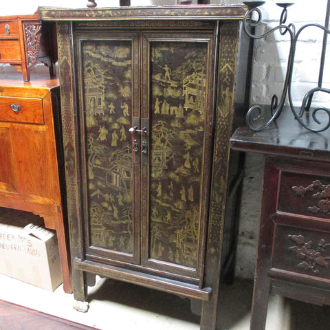 Chinese Black Lacquer Cabinet CH-4