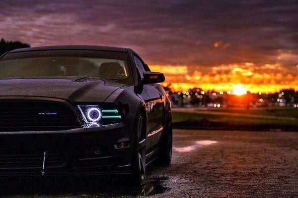 2013-2017 Ford Mustang RGBW Fog Light Halo Kit | ONEUPLIGHTING - Oneuplighting