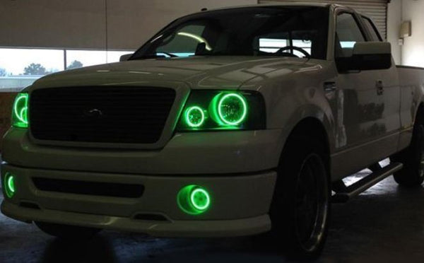 Ford F150 2004-2008 RGB Halo Headlights | ONEUPLIGHTING - Oneuplighting