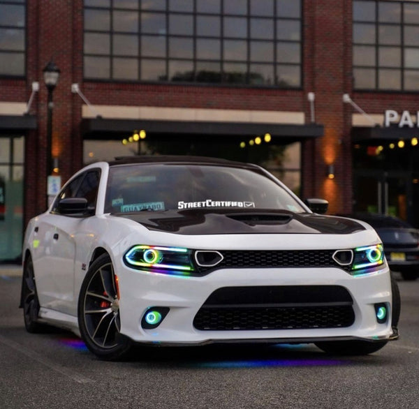 2015-2020 Dodge Charger Color Chasing DRLs | ONEUPLIGHTING - Oneuplighting