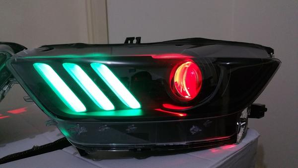 Ford Mustang 2015-2017 RGBW LED DRL Boards | ONEUPLIGHTING - Oneuplighting