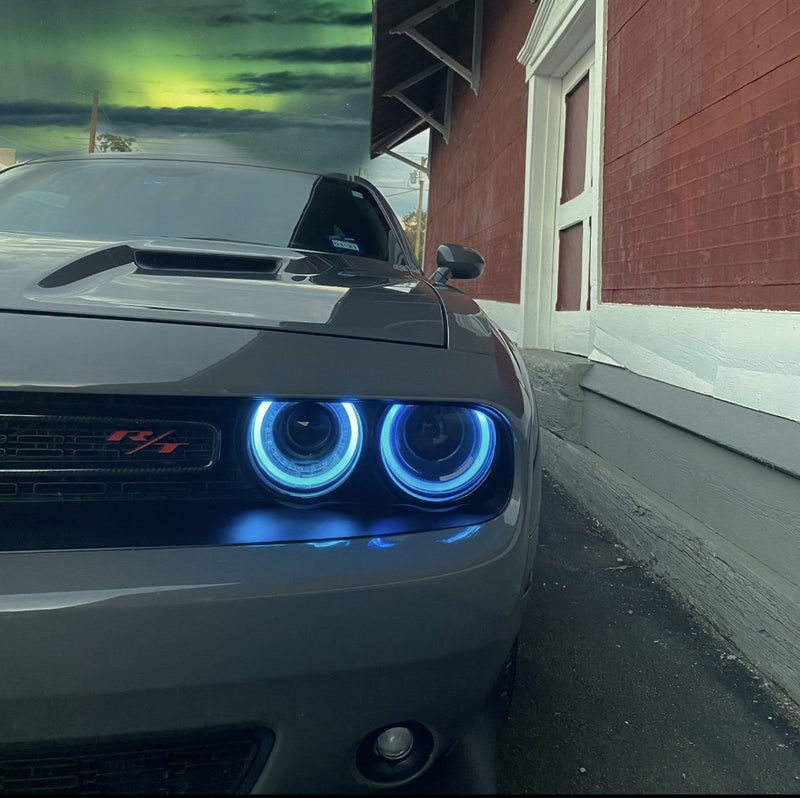 Dodge Challenger 2015-2020 RGBW DRL Boards | 15-20 Challenger Halo Lights | ONEUPLIGHTING - Oneuplighting