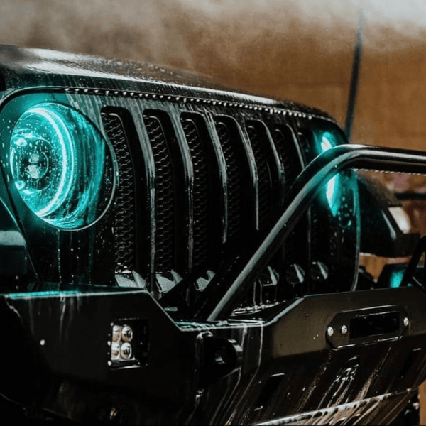 Jeep Wrangler 1997-2018 RGB Color Changing Halo Kit | ONEUPLIGHTING - Oneuplighting