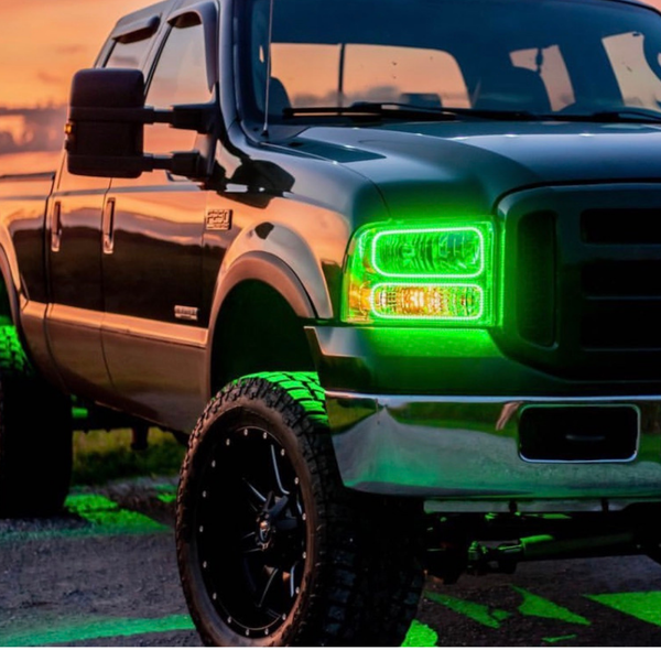 Ford F-250  2005-2007 RGB Halo Headlights | ONEUPLIGHTING - Oneuplighting