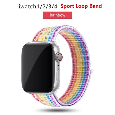 Nylon Loop Apple Watch Band  Compatible with All Series