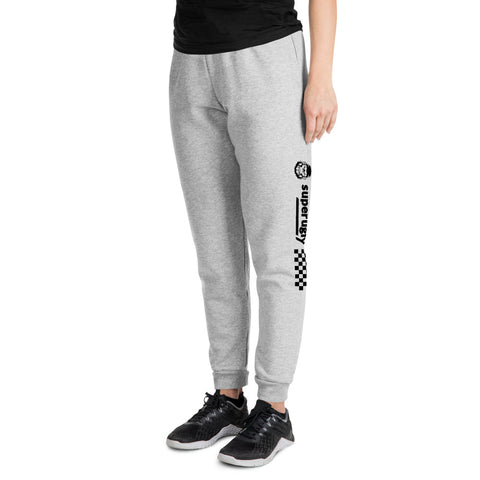 Heather White Unisex Superugly Joggers