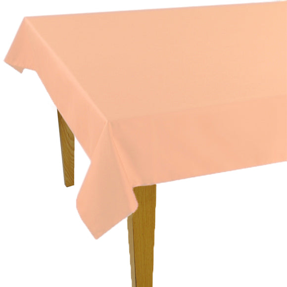 Pink Solid Jacquard Tablecloth - choose your size