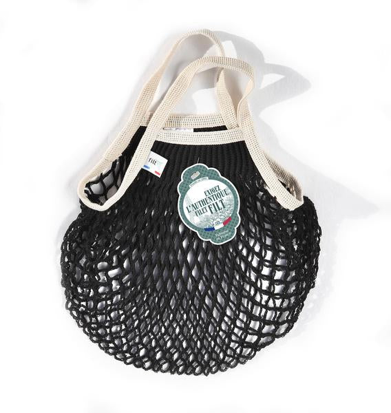 Black and Natural Mini Net Bag