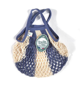 Blue and Natural Mini Net Bag