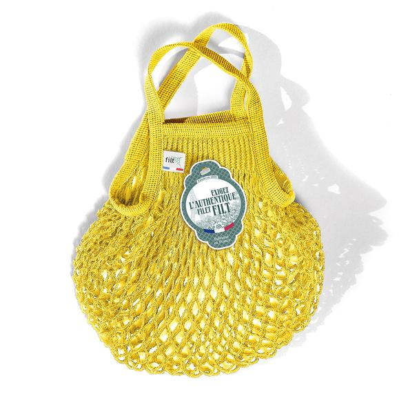 Bright Yellow Mini Net Bag
