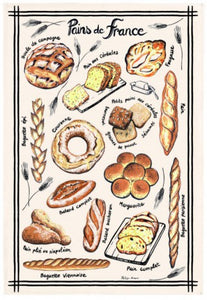 "Pain de France 19""x28"" Cotton French Image Dishtowel"