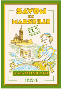 "Savon de Marseille 19""x28"" Cotton French Image Dishtowel"