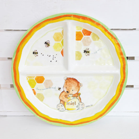 Honey Bear Melamine Set for Baby (Plate, Cup, Bowl, Utensils & Placemat)