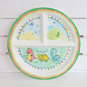 Dino Melamine Set for Baby (Plate, Cup, Bowl, Utensils & Placemat)