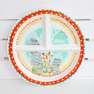 Giraffe Melamine Set for Baby (Plate, Cup, Bowl, Utensils & Placemat)