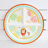 Lion Melamine Set for Baby (Plate, Cup, Bowl, Utensils & Placemat)