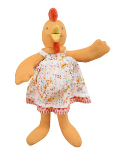 "Petite Hen Felice 12"" French Stuffed Animal"