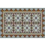 "Brown Fleur de Lys Vinyl 13""x20"" Placemat - sold in sets of 4, 6, 8 or 12"