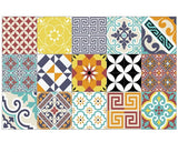 "Eclectic Quilt Vinyl 13""x20"" Placemat - sold in sets of 4, 6, 8 or 12"