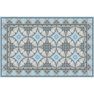 "Light Blue Barcelona Vinyl 13""x20"" Placemat - sold in sets of 4, 6, 8 or 12"