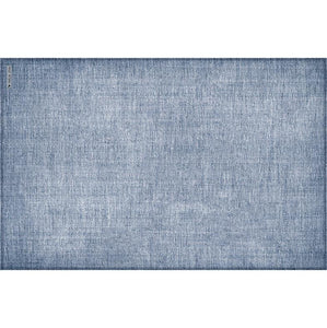 "Blue Linen Vinyl 13""x20"" Placemat - sold in sets of 4, 6, 8 or 12"