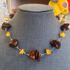 French Amber Choker Necklace by Bijo