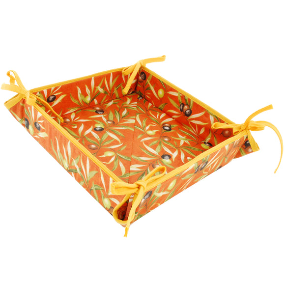 Olive Baux Orange Coated Cotton Breadbasket