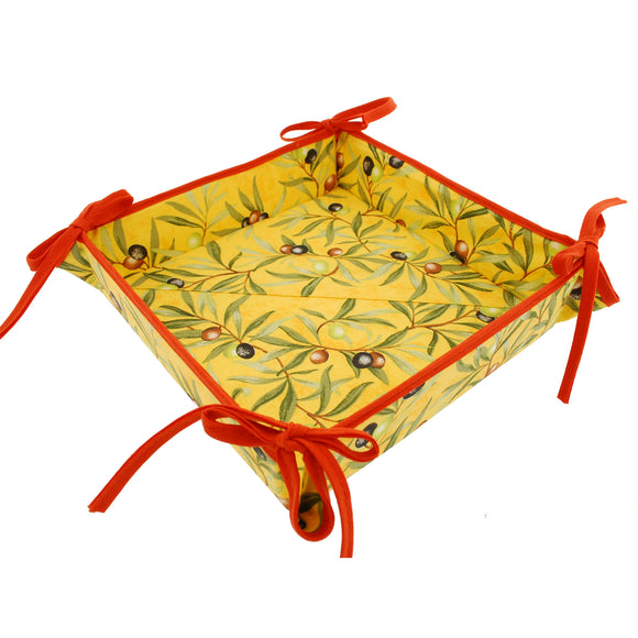 Olive Baux Rust Coated Cotton Breadbasket