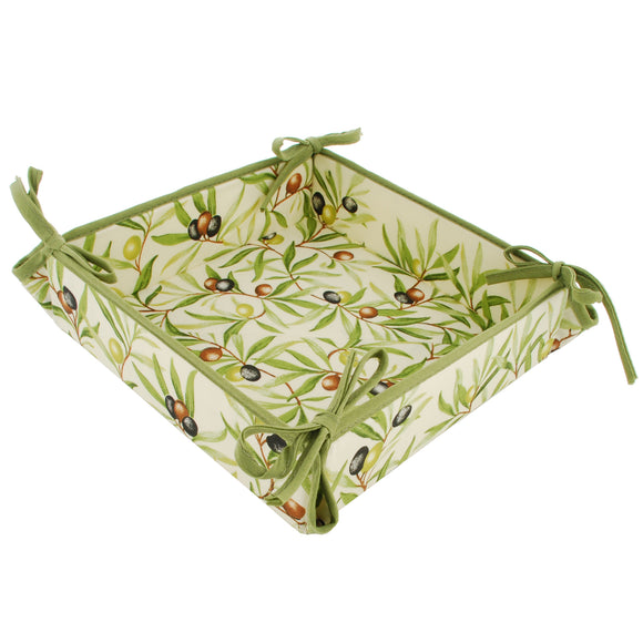 Olive Baux Natural Coated Cotton Breadbasket