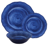 Campania Blue 12 piece Melamine Dinnerware Set