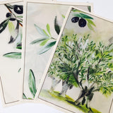 "Olive Watercolor 20""x28"" Jacquard Dishtowel - set of 3"