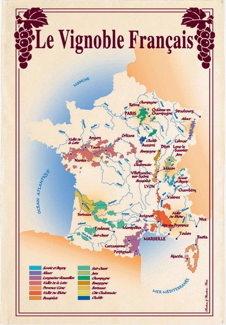 French Wine Map 19