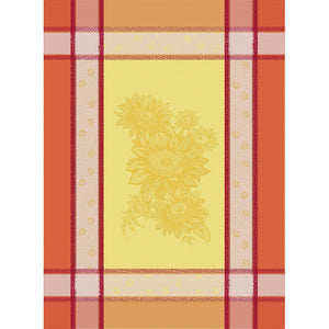 "Roussillon Orange 20""x28"" Jacquard Dishtowel"
