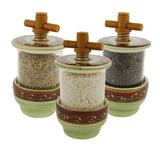 Arabesque Green Ceramic Herb Grinder - Choose your filling