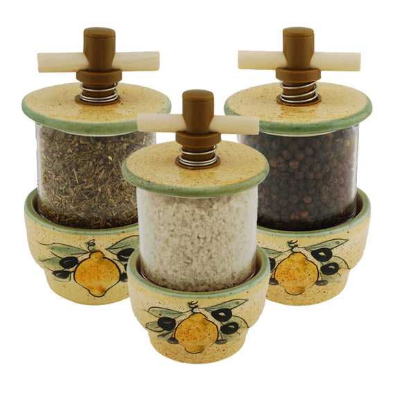 Lemons Ceramic Herb Grinder - Choose your filling