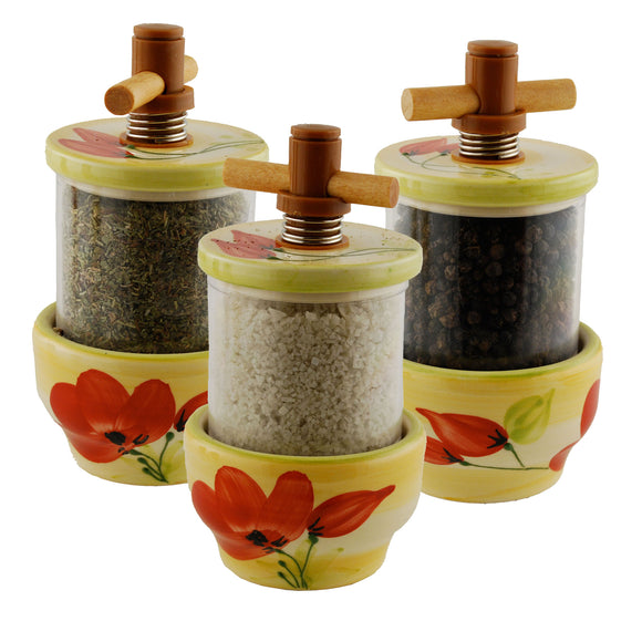 Poppy Ceramic Herb Grinder - Choose your filling