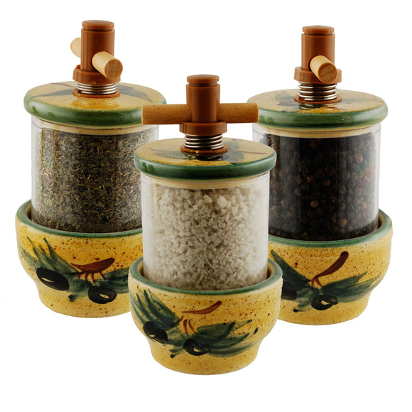 Olives Ceramic Herb Grinder - Choose your filling