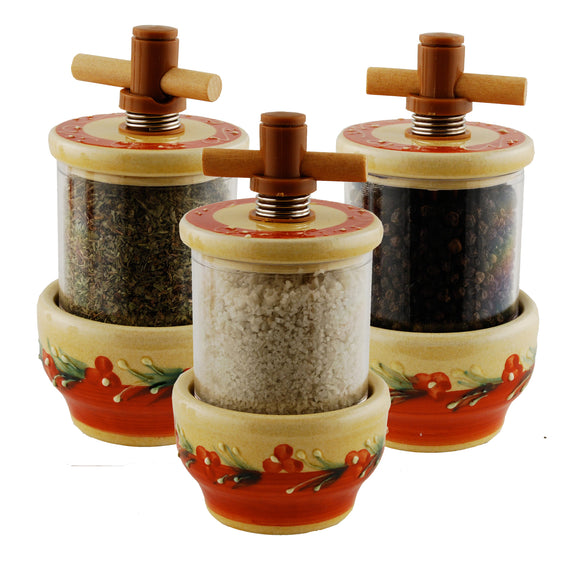 Terracotta Ceramic Herb Grinder - Choose your filling