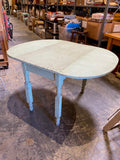 Green Fold-Down Antique Table