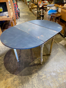 Blue Fold-Down Antique Table