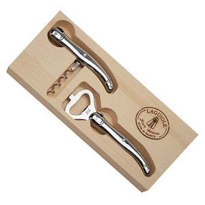 Stainless Steel Corkscrew & Wine  Opener Set  - Laguiole by Jean Dubost